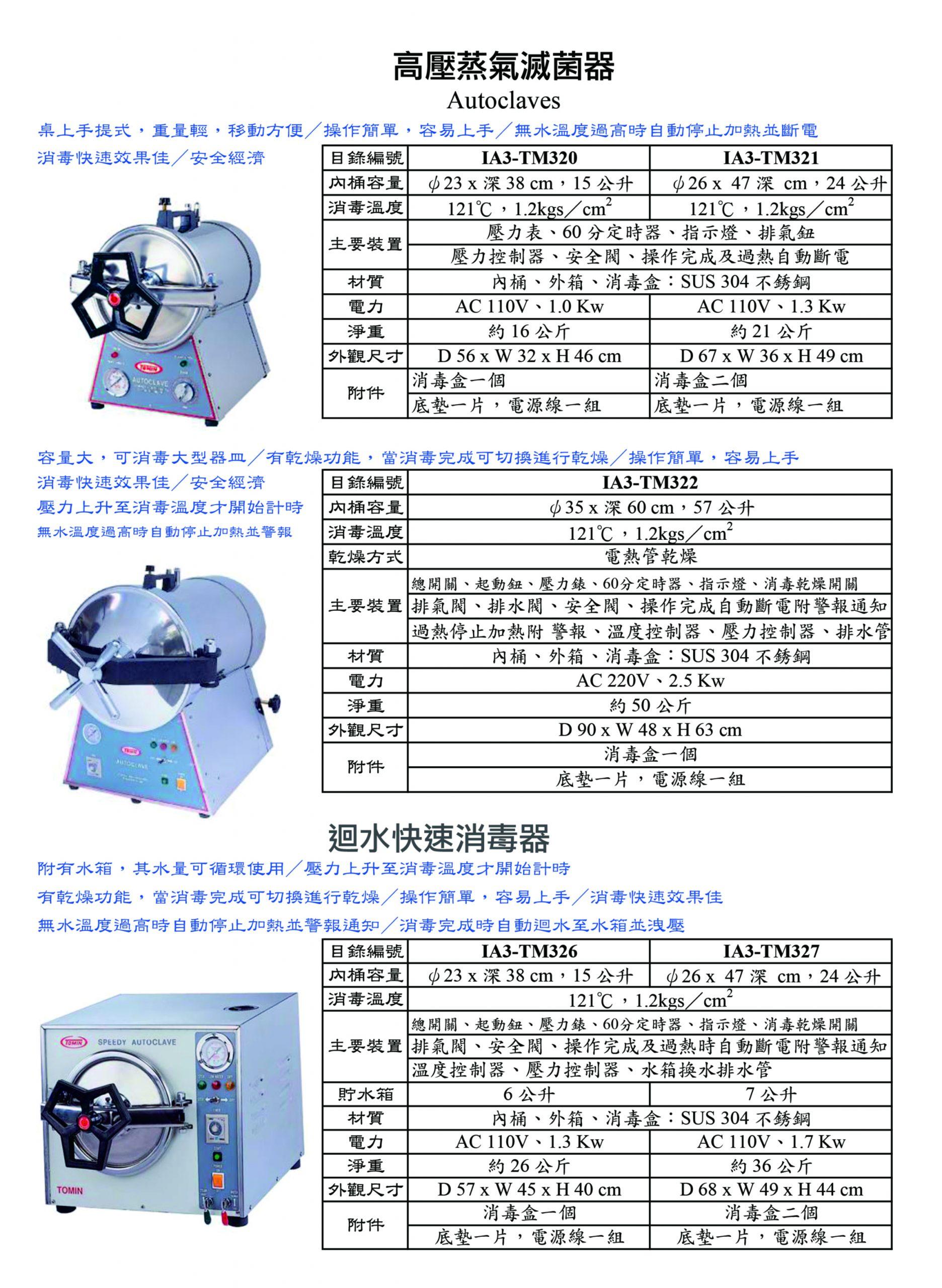 高壓蒸氣滅菌器